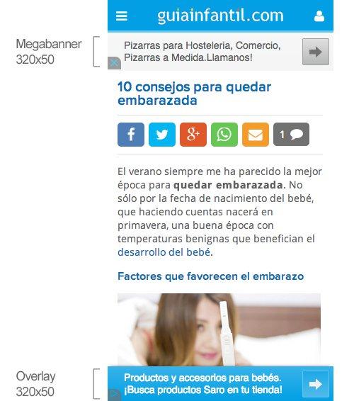 Publicidad en GuiaInfantil